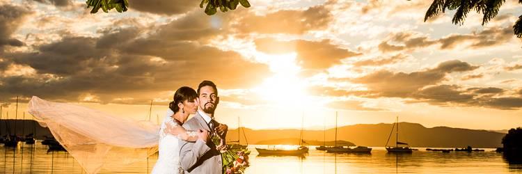 Fotografia de Casamento Por do Sol